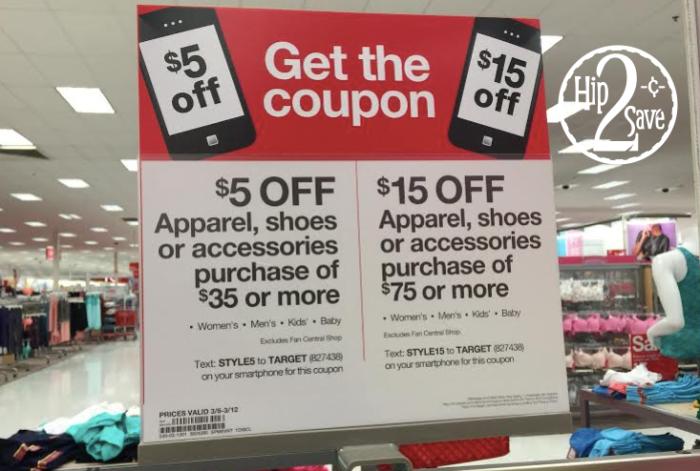 Target Apparel Coupons
