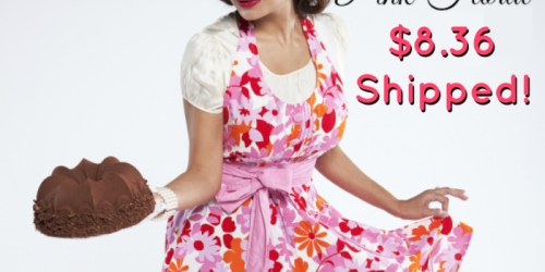 Flirty Aprons: Women's Lindy Pink Floral Apron ONLY $8.36 Shipped (Regularly $29.95) + More