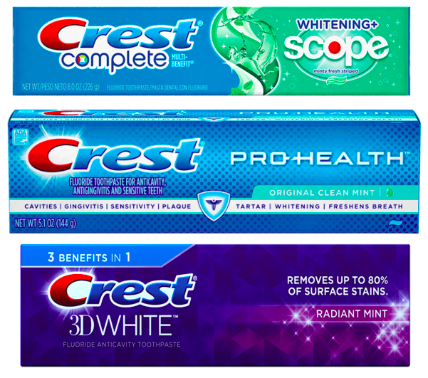 THREE *New* Crest Coupons = FREE Toothpaste At CVS