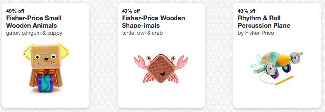 Fisher-Price Wooden Toy Cartwheels