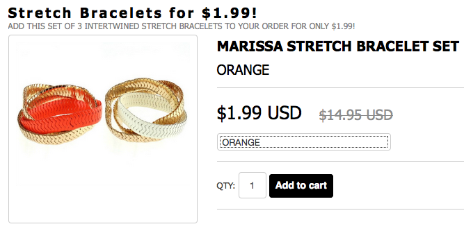 In Addition At Checkout You Will Be Offered A Marissa Stretch Bracelet Set For Just 199 Regularly 1495 Awesome