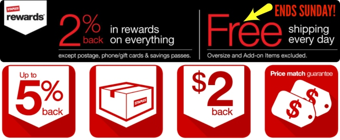 staples rewards  free shipping on any order ends sunday  snag these deals while you can