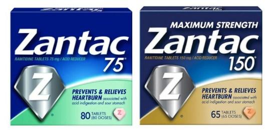 Zantac 75 and Zantac 150