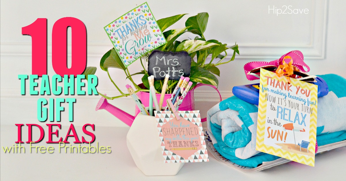 image relating to Free Printable Teacher Appreciation Gift Tags called 10 Instructor Present Tips w/ Totally free Printable Present Tags - Hip2Conserve