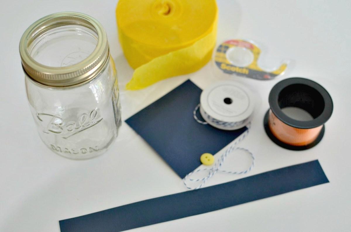 making a graduation money jar gift