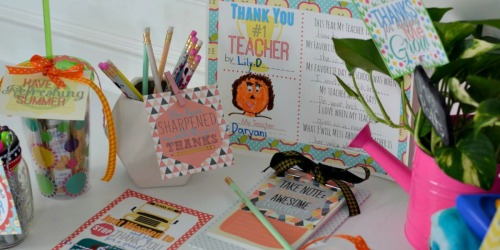 10 Teacher Gift Ideas w/ Free Printable Gift Tags
