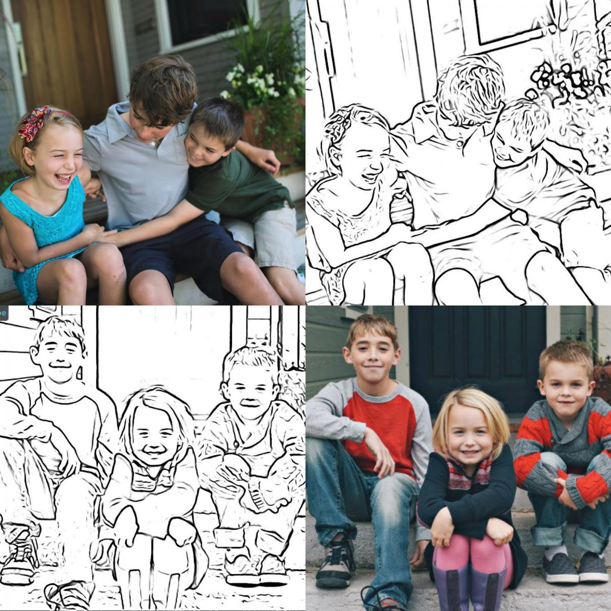 Easy Way to Make Coloring Pages from Photos by Hip2Save.com
