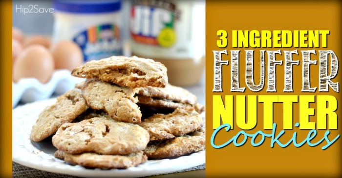 Fluffer Nutter Cookies with Just 3 Ingredients Hip2Save.com