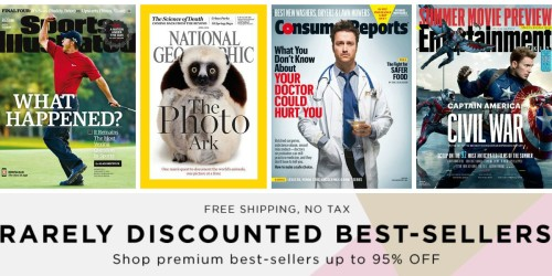Up to 95% Off Weekend Magazine Sale (Sports Illustrated, Consumer Reports & More)