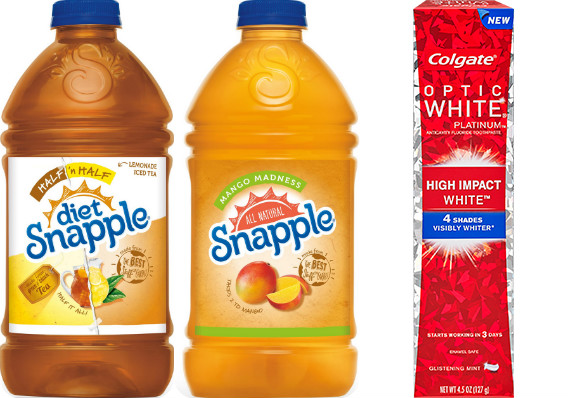 CVS: Rare Buy 1 Get 1 Free Snapple Store Coupon (+ Upcoming Colgate