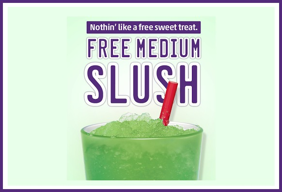 picture relating to Sonic Printable Coupons identify Sonic Determination-In just: Absolutely free Medium Slush Even though By yourself Down load The Application