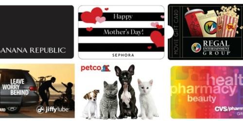 Discounted Gift Cards (Banana Republic, CVS, Sephora, Regal & More)