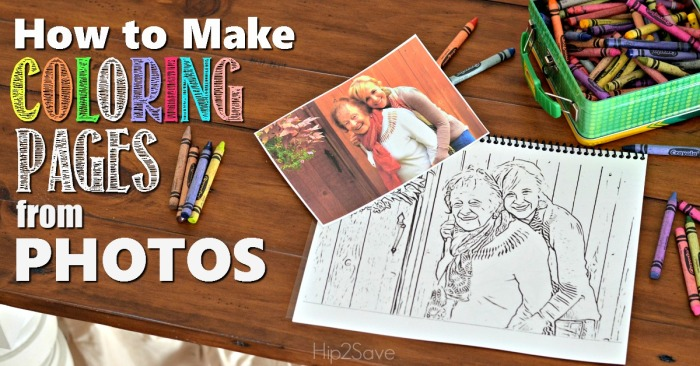 Make Custom Coloring Pages from YOUR Photos - Hip9Save