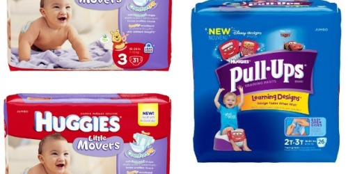 Walgreens: Huggies Diapers & Pull-Ups Jumbo Packs Only $4 Each