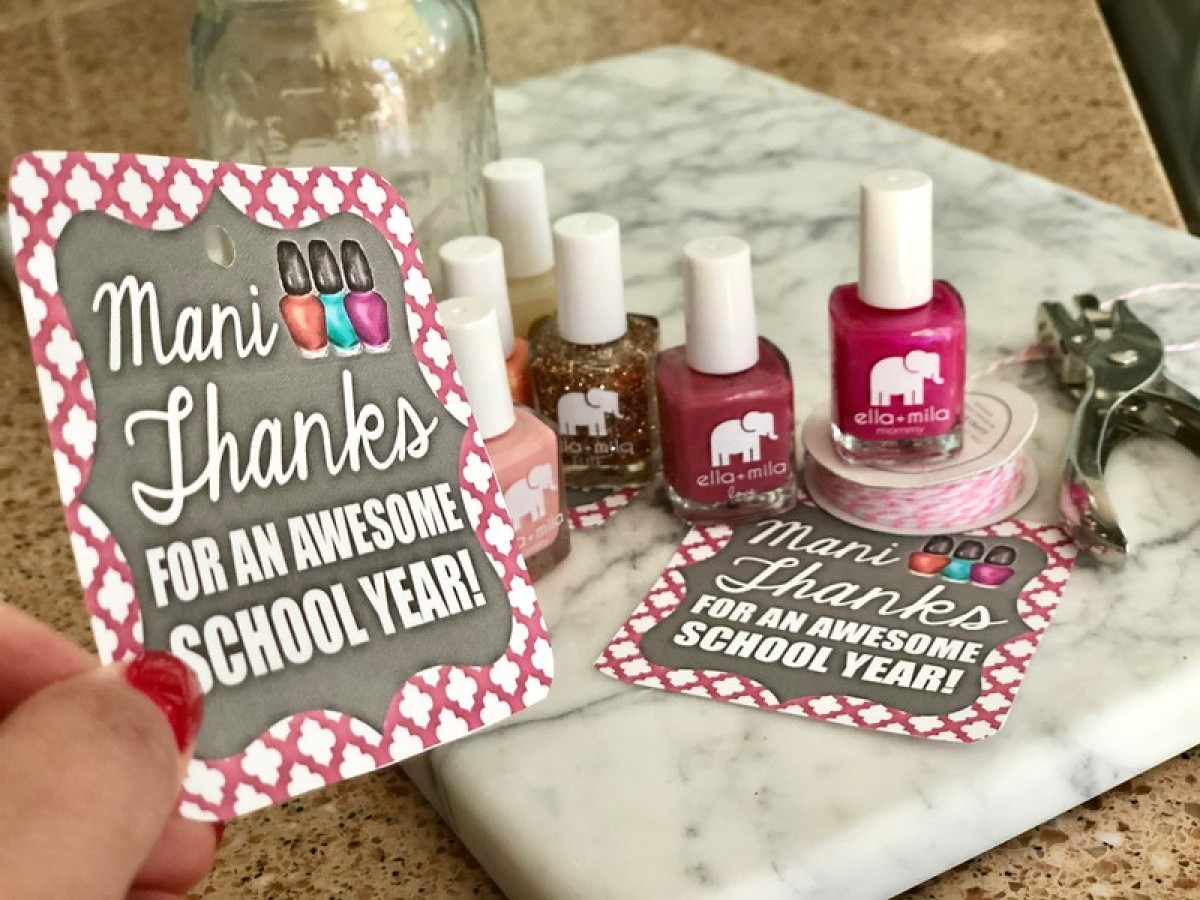easy teacher gift manicure jar