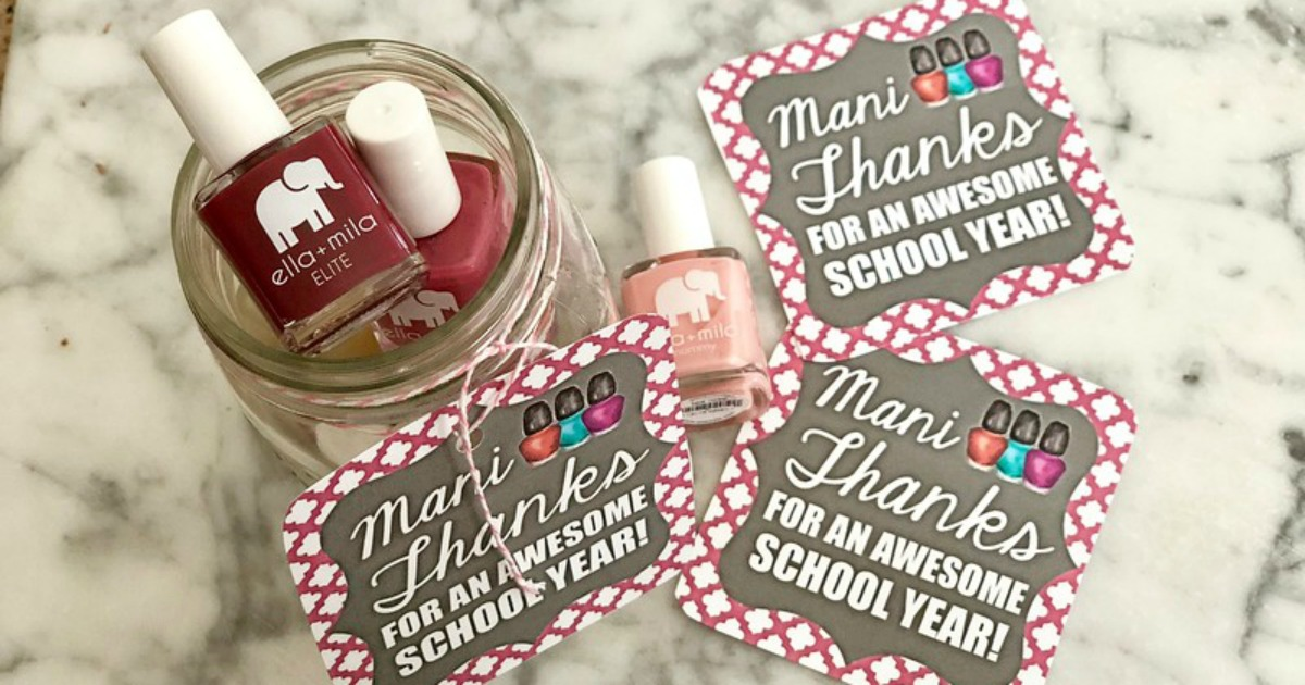 Mani Thanks Teacher Gift Idea