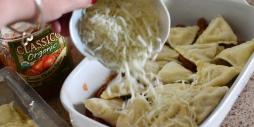 Easy 3-Ingredient Ravioli Lasagna Casserole