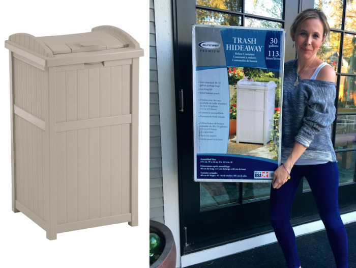 Amazon: Suncast Outdoor Trash Container Only $25.30 (Regularly $54)