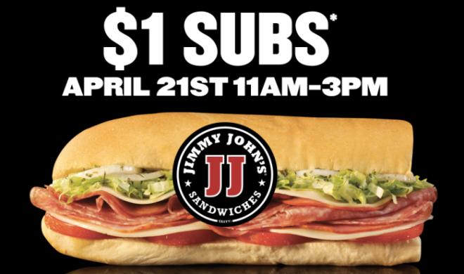 Jimmy John's: $1 Sub Sandwiches