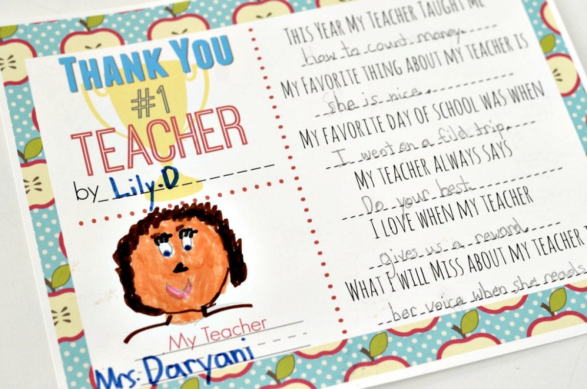 thank you printable for teachers