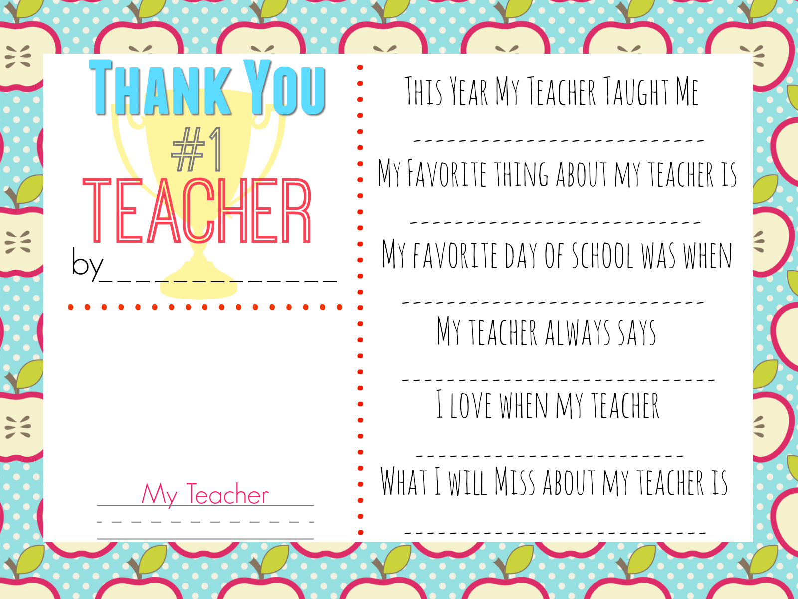 photograph relating to Printable Thank You Cards for Teacher referred to as 10 Trainer Present Plans w/ Cost-free Printable Reward Tags - Hip2Conserve