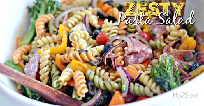 Zesty Italian Pasta Salad Hip2Save.com