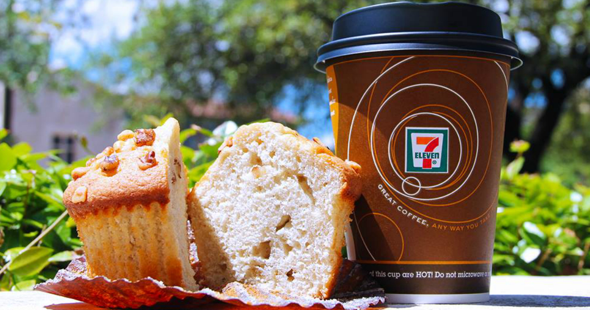 Score free coffee for national coffee day, september 2018 – 7-Eleven coffee and muffin