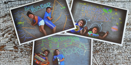Sidewalk Chalk Photo Ideas for Father's Day