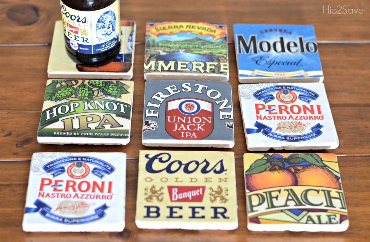Easy Mod Podge Beer Coasters