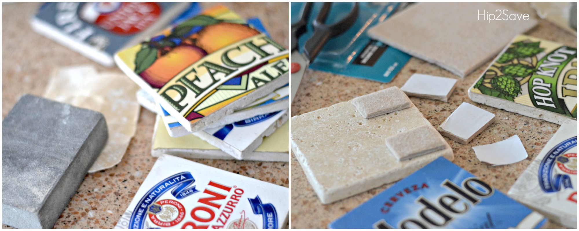 Father's Day Beer Coasters DIY Craft by Hip2Save