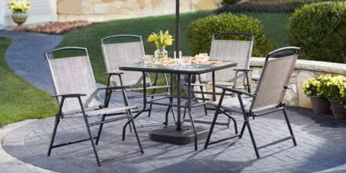 Home Depot: 7-Piece Patio Dining Set ONLY $99 (Includes 4 Chairs, Table, Umbrella & Stand)