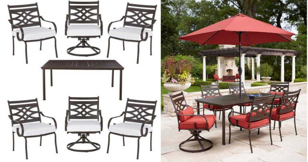 Home Depot 7 Piece Patio Dining Set With Cushion Inserts Only