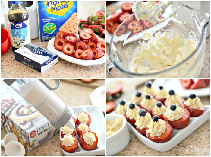 How to Make Easy Cheesecake Stuffed Strawberries by Hip2Save.com