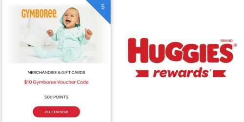 Huggies Rewards: $10 Gymboree Voucher Only 500 Points (+ FREE Shipping on Gymboree.com)