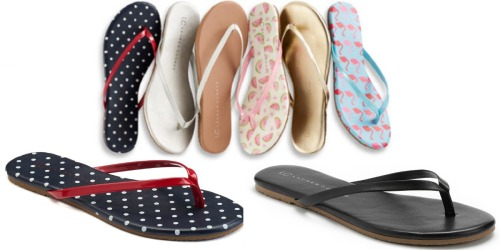 Kohl's.com: LC Lauren Conrad Women's Flip-Flops Only $5.65 Each (Regularly $19.99)