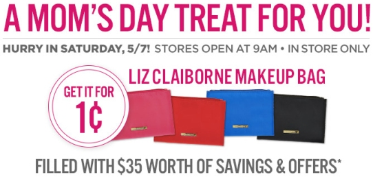 20fbcab188e JCPenney: Liz Claiborne Makeup Bag ONLY 1¢ - In Store on Saturday ...