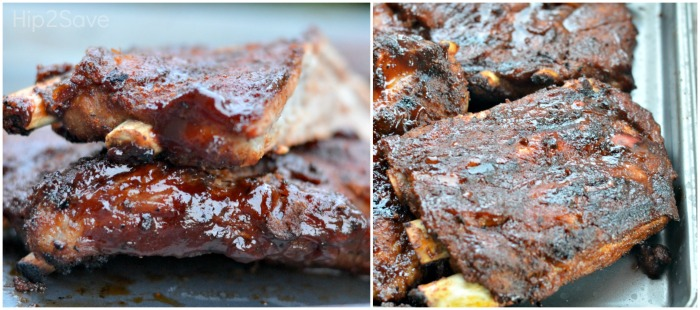 Ribs from the Pressure Cooker then Finished on Grill Hip2Save.com