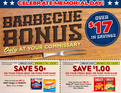 Great Coupon Booklet available at your local Commissary in May