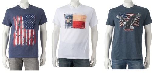 Kohl's: Men's Patriotic Tees Only $2.55 Each