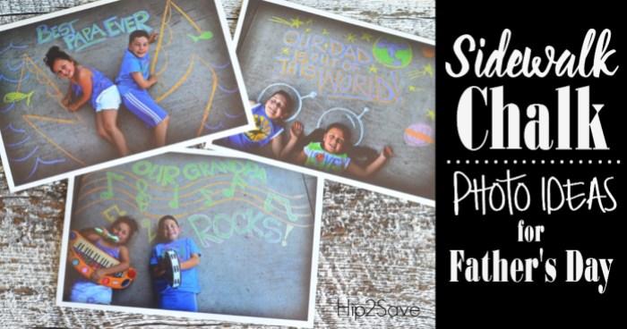 Sidewalk Chalk Photo Idea Hip2Save