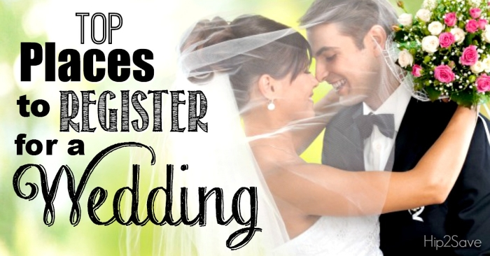 Top Places to Register for a Wedding