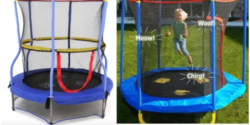 Bounce-N-Learn Trampoline w/ Safety Enclosure & Interactive Animal Sounds Only $49 (Reg. $79)