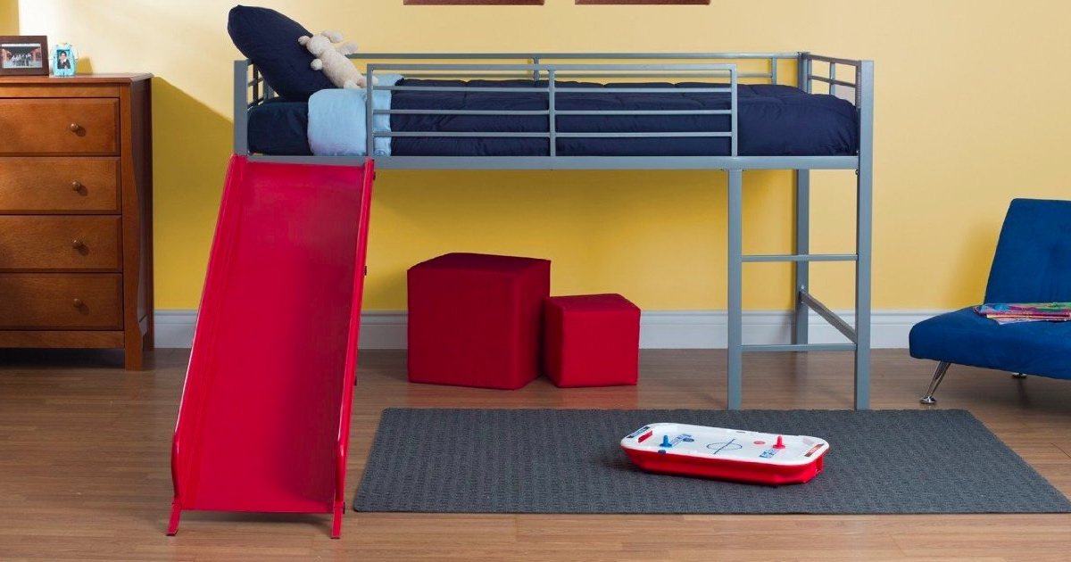 Amazon Loft Bed W Slide Only 162 61 Shipped Hip2save