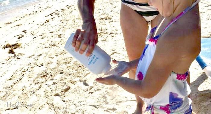 Baby Powder Trick for the Beach Hip2Save.com