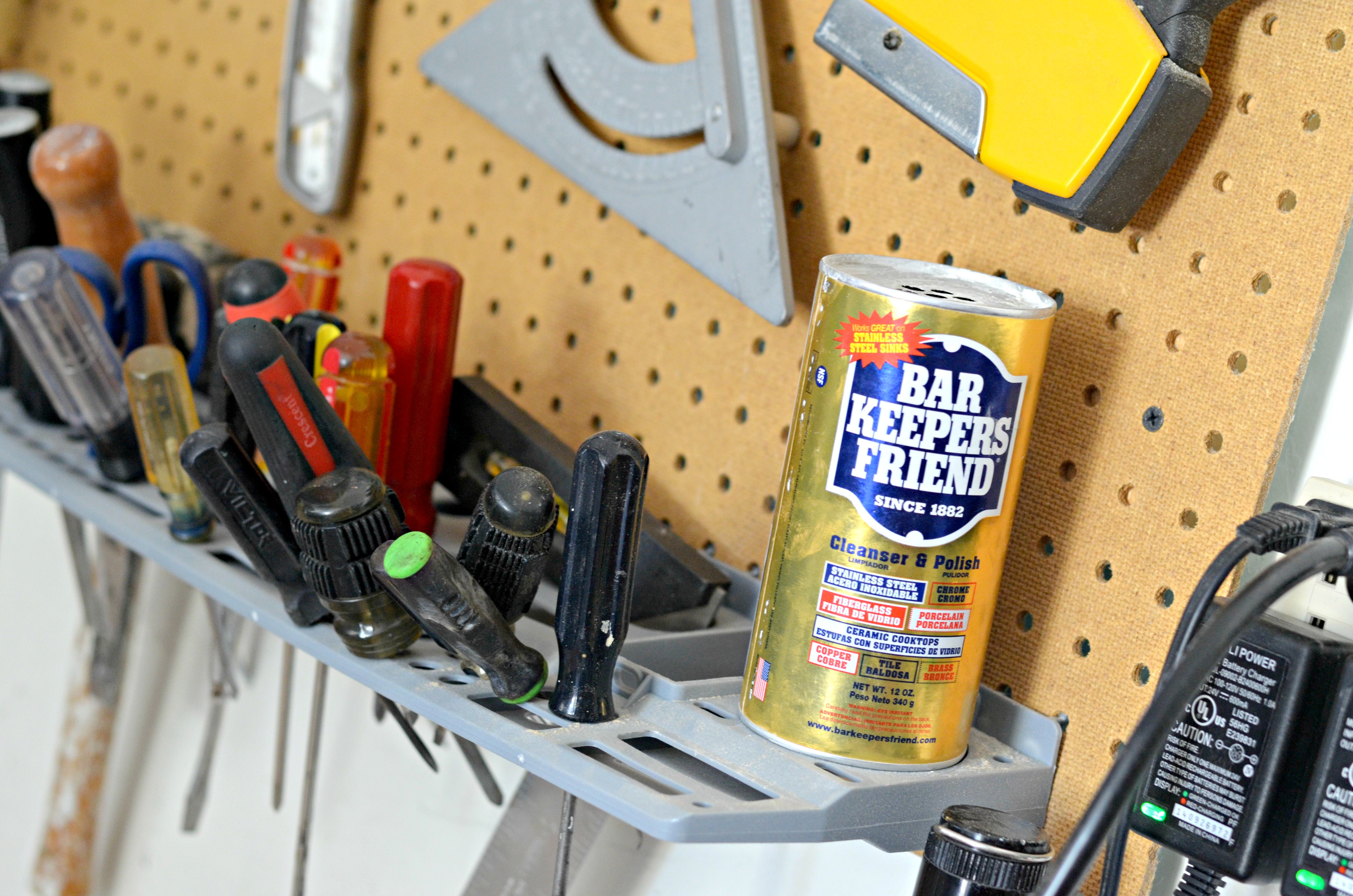 Bar Keepers Friend in the garage