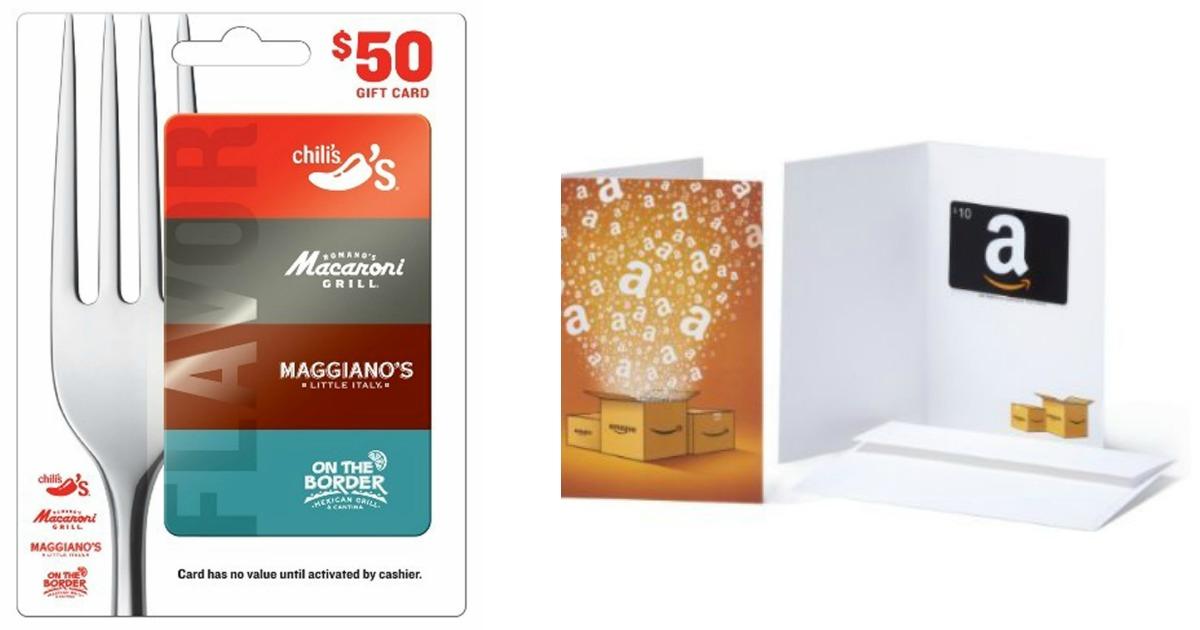 50 Brinker Restaurants Gift Card 10 Amazon Gift Card Only 50