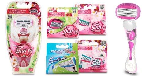 Dorco Shai Trial Pack Just $16 Shipped (Includes 1 Razor Handle AND 18 Cartridges!)
