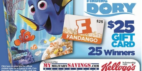 Military: June Commissary Savings w/ Kellogg's Case Lot Sale (+ 25 Win $25 Fandango Cards)