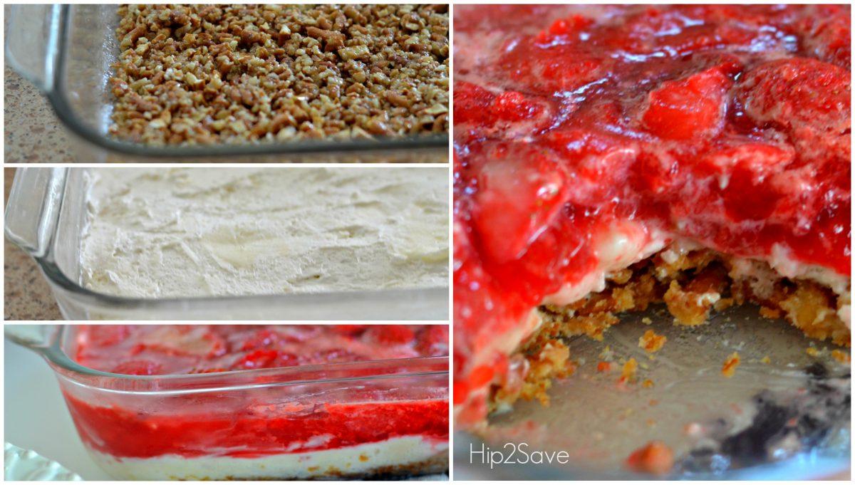 Easy Strawberry Pretzel Salad Hip2Save