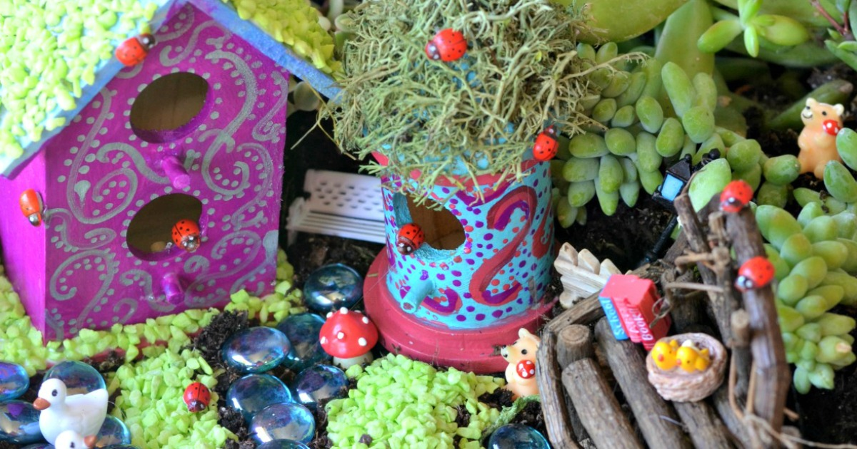 DIY whimsical fairy garden